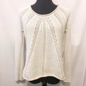 Calvin Klein Cream Tan Knit Sweater High Low XS
